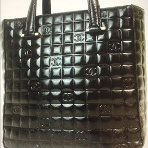 Authentic Chanel Choco Bar Patent leather bag